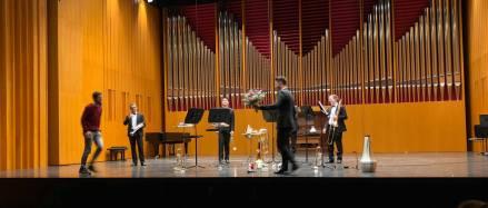 """Skypie Brass Quintet premieres """"...KOMMEN SIE REIN..."""""""